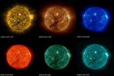 February 27 2017 : Images of the Sun From the GOES-16 Satellite These images of the sun were captured at the same time on January 29 2017 by the six channels on the Solar Ultraviolet Imager or SUVI instrument aboard NOAAs GOES-16 satellite. Data from SUVI will provide an estimation of coronal plasma temperatures and emission measurements which are important to space weather forecasting.