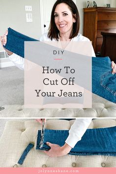 I've had a ton of questions about how to cut your jeans for a DIY raw hem, so I finally got around to making a video about it. I'm also talking about how to determine the right length of jeans for you. Click through for pictures and instructions! 31 Bags, Patriotic Party, Thirty One Bags, Altering Clothes, Fashion For Women Over 40, Craft Business, Fall Wardrobe, Cut Jeans, Needle And Thread