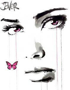 "Saatchi Art Artist LOUI JOVER; Drawing, ""pink emphasis"" #art"