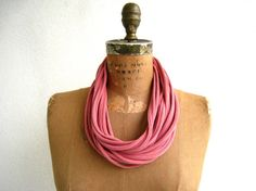 T Shirt Necklace / Long Short / Brick Red / Terracotta / Eco Friendly / Women / Fashion / Cotton / Soft / Gift for Her / ohzie on Etsy, $15.00