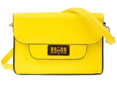 4e29512721 UKFS Stunning Classic Faux Leather Ladies Shoulder Bag Overbody Bag Mini Messenger  Bag K8677 - Yellow