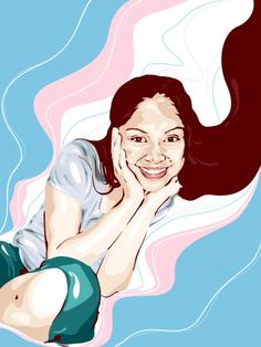 Flowing lines forming smiles - Vector Illustrations by Jejomar Limbo  <3 <3