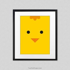 nursery artwork baby chick wall art poster nursery decor decorations for baby room - Nursery Decorations