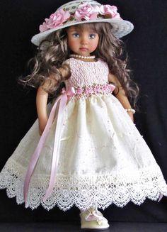 Handmade smocked dress set made for Effner Little Darlings