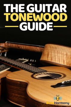 "If you are in the market for buying a guitar, chances are that you've heard the term ""tonewood"" used. Tonewood is what the guitar is made of, and the type of wood can greatly affect the sound. In this article, we'll take a closer look at the types of guitar tonewood and which type is best for you. #GuitarTonewoodGuideDesign #GuitarTonewoodGuideBeginner"