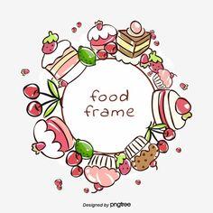 Cricut Monogram Font, Monogram Frame, Cake Clipart, Food Clipart, Clipart Images, Strawberry Clipart, Creative Birthday Cakes, Cake Frame, Frame Border Design