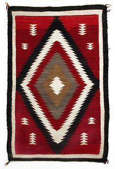 Navajo Ganado Rug, circa 1920