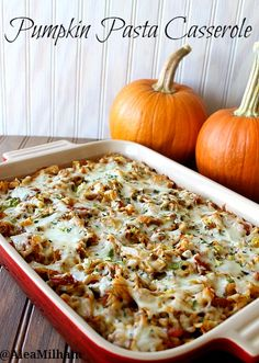 Pumpkin Pasta Casserole Recipe | 5DollarDinners.com