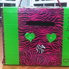 Duct tape Valentine card box. really cute.