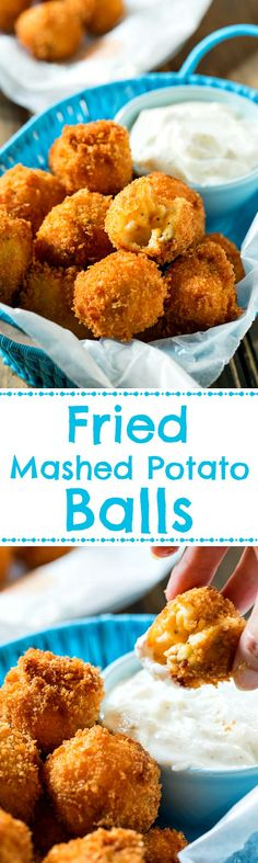 Crispy Fried Mashed Potato Balls - a great way to use up leftover mashed potatoes.