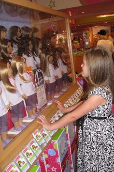 American Girl Place - New York.. I cried when I saw Emilees expression when we walked in the door....