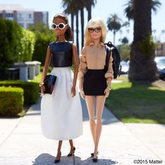 """Style tip: pair neutral separates with unexpected accessories for classic, cool looks.  #barbie #barbiestyle"""