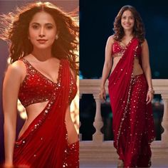 Red Sequence Attractive Bollywood Saree Sequence Work Bridal Gift Occasional Party Wedding Sari Wear with Red Blouse - Moda Femminile Bollywood Saree, Bollywood Designer Sarees, Red Saree, Bollywood Fashion, Maroon Saree, Bollywood Actress, Bollywood Heroine, Bollywood Bridal, Bollywood Girls