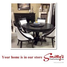 Come along on a tour with Angela, sales consultant at Smitty's Kitchener, as she shares her love of Canadian made Bermex dining furniture. Fine Furniture, Dining Furniture, Dining Room, Dining Tables, Kitchenette, Office Desk, Your Design, Living Spaces, Store