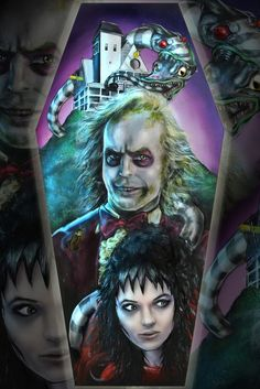 "Image of Limited Edition ""Beetlejuice"" 12x18in Print"