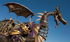 The steampunk Maleficent dragon that will debut in the Magic Kingdom's new daytime parade.