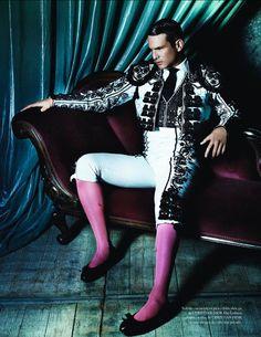¡Va por ustedes! | José María Manzanares by Mario Testino for Vogue España, December 2012