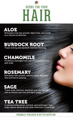 Herbal hair remedies.