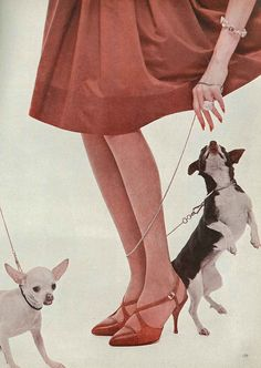 February Vogue 1959 1950s accessories