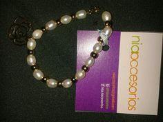 Hermosa pulsera de perlas! Todas las perlas son de margarita. Perlas reales. 190bs