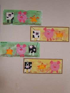 : 44 Trendy animal art kindergarten farm theme – MY WORLD Farm Lessons, Classe D'art, Kindergarten Art Lessons, Farm Activities, Shape Activities, Farm Unit, Animal Art Projects, Farm Crafts, Farm Theme