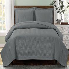 Modern Chevron Charcoal Quilt Coverlet Set Oversized | Chevron ... : oversized quilts and coverlets - Adamdwight.com