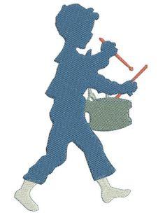 Motif broderie machine petit garçon au tambour Tambour, Silhouettes, Etsy, Small Boy, Sons, Pattern, Silhouette