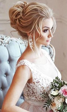 24 Most Romantic Bridal Updos & Wedding Hairstyles ❤ See more: http://www.weddingforward.com/romantic-bridal-updos-wedding-hairstyles/ #weddings #hairstyles