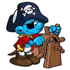 Törpitány (Navigator Smurf) – Kapitány törp. Szeret hajózni. Vizeken vezet és kormányoz vitorlás hajót.