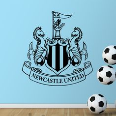 Find More Wall Stickers Information about New Castle United badge Wall sticker Vinyl Football Marks Art Home Decor Wall Decal DIY soccer club signs in bedroom or shop,High Quality vinyl wall sticker,China sticker light Suppliers, Cheap sticker plotter from Big dream on Aliexpress.com
