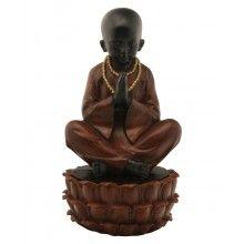 Praying Monk Statue/Treasure Box, 9 Inches