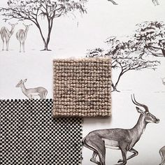 Preparing for another client meeting this morning. I'm creating a scheme for a cloakroom using our Tribe wallpaper, @alternativeflooring carpet and @ian_mankin fabric #wallpaper #wallcoverings #flooring #fabrics #cloakroom #safari #africa #design #detail #impala #drawing #illustration #homedecor #inspiration #interiordesign #luxury #lifestyle #studio