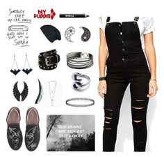 """Goth overall"" by breannailoveyou on Polyvore featuring Tripp, Vivienne Westwood, Barbara Bui, Sydney Evan, Ardency Inn, Charriol, Wild Hearts, Chicnova Fashion and Plukka"