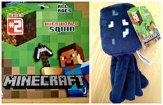 #Minecraft Overworld Squid Plush 7-Inch Review #Toys  These squid toy plushies are so cute from Minecraft - my kids dig em'