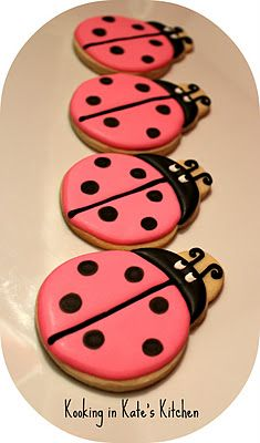 Super cute ladybugs from Kooking In Kate's Kitchen