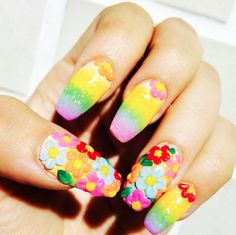 Amazing 3D flowers and rainbow fade by the wonderful Ellie. Doesn't get more…