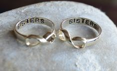 SALE! Sterling Silver, 925 Infinity ring, Sisters Ring, Best Friend Ring couples ring. sisters infinity ring. mothers ring. Mothers Day on Etsy, $24.95