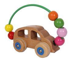 voiture de motricité, hochet en bois, jouet bébé, qualité allemande