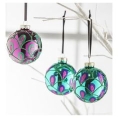 peacock baubles