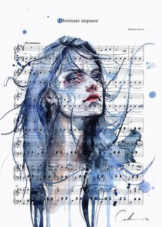Obstinate Impasse on Sheet Music by agnes-cecile on DeviantArt