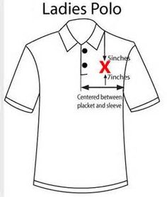 embroidery placement on polo shirts - at&t yahoo Image Search Results