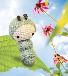 This cute amigurumi caterpillar from Lalylala is building her strength by eating lots of leaves.  Follow her as she turns into into a beautiful amigurumi butterfly.  #amigurumi #crochet #lalylala