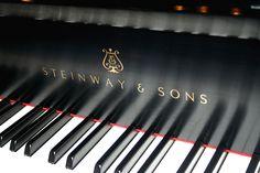 Steinway & Sons, Piano Keys With Modern Logo E Piano, Piano Songs, Piano Keys, Piano Music, Piano Man, Sound Of Music, My Music, Steinway Grand Piano, Grand Pianos
