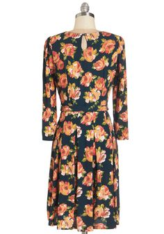 Put Your Trust in Glee Dress. Rest assured that the radiant hues on this floral dress from Louie et Lucie will brighten your mood! #multi #modcloth