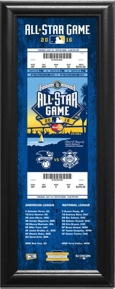 2016 MLB All-Star Game A Ticket to History Framed Print- San Diego Padres