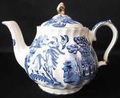 Blue Willow is still my favorite pattern.  It can be dressed up for a fancy tea or down for use everyday.