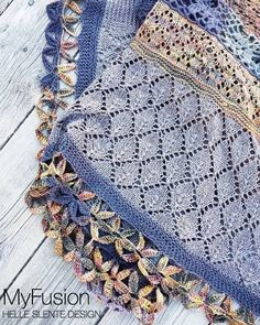 MyFusion shawl by HELLE SLENTE DESIGN | credit @anineby | knitting pattern | bistitchual | Ravelry
