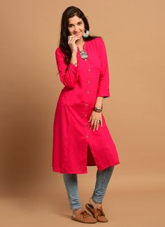 India's Best online Shopping Website For Women,Mens,kids and Many More Categories For Shopping . Collar Kurti, Pink Kurti, Frock For Women, Kurti Patterns, 1 Piece, Frocks, Bollywood, Dresses For Work, Designer Kurtis