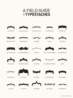 A Field Guide to Mustaches.