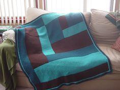 ca1ce37e7 modern log cabin blanket by Kay Gardiner and Anne Shayne  Free pattern  Crochet Quilt